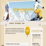 SnowBoarding blogspot Template