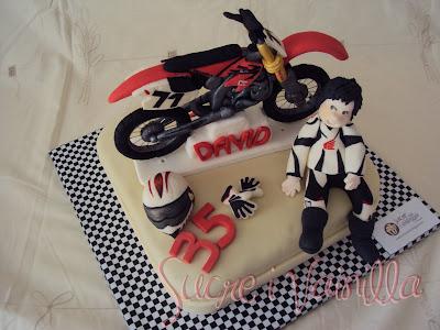 sucre i vainilla  pasteles personalizados Tarta Moto enduro