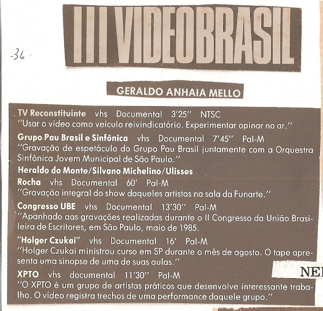 III vídeo Brasil