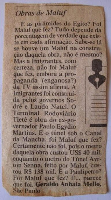 Obras de Maluf