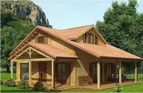 La madera en la arquitectura un poco de historia construcciones prefabricadas - Casas con estructura de madera ...