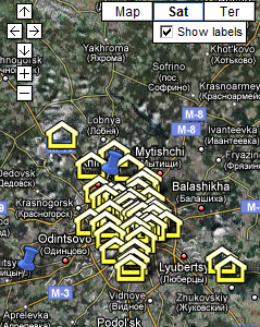 Московские ЦОДы на карте