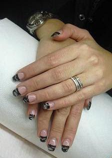 Nails Dsign Unas Negras Decoradas Con Encaje