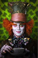 Johnny Depp as the Mad Hatter in Alice in Wonderland Movie