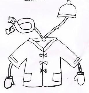 Bonnezid ma cagoule mon charpe et mes gants - Dessin de manteau ...