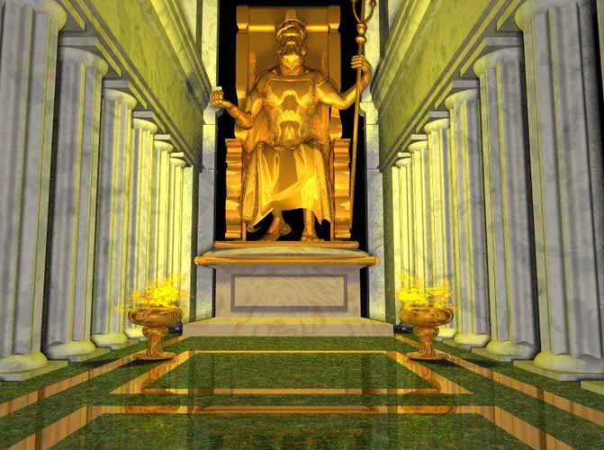 Statue Of Zeus At Olympia Seven Wonders The Ancient