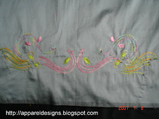 Kashmiri Embroidery Using FLY Stich