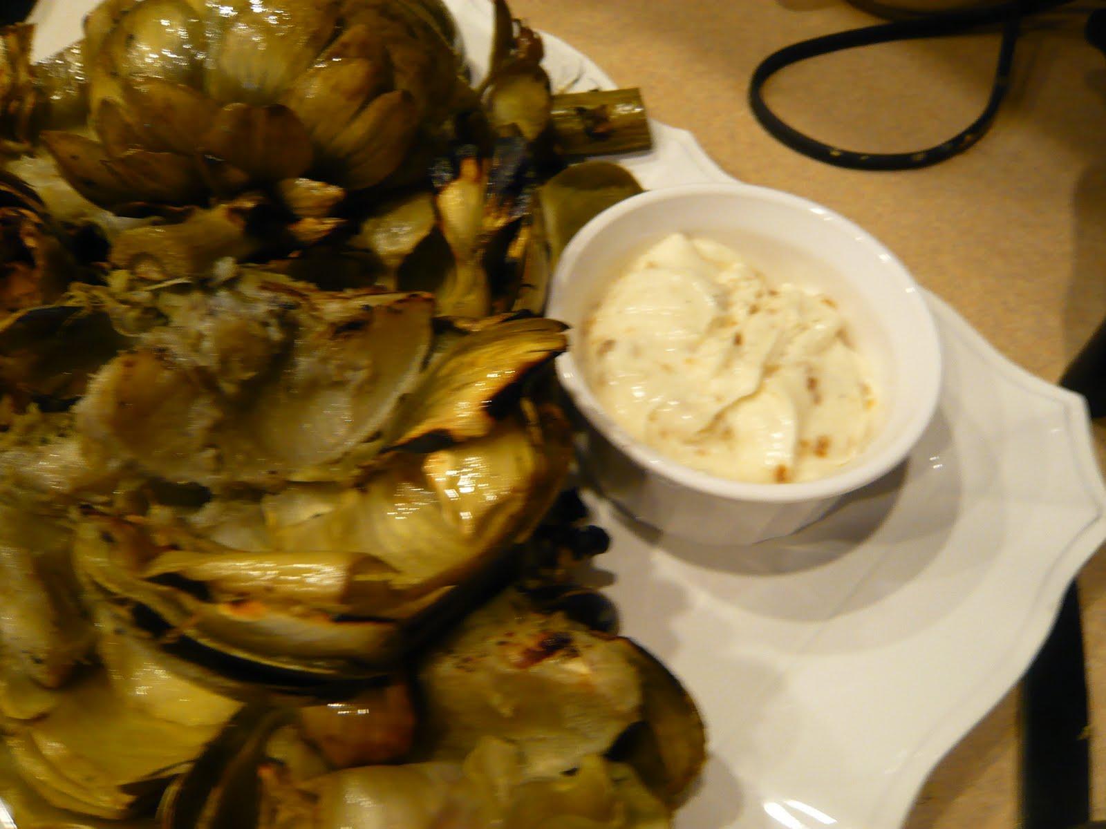 Grilled Artichokes & Roasted Garlic Aioli