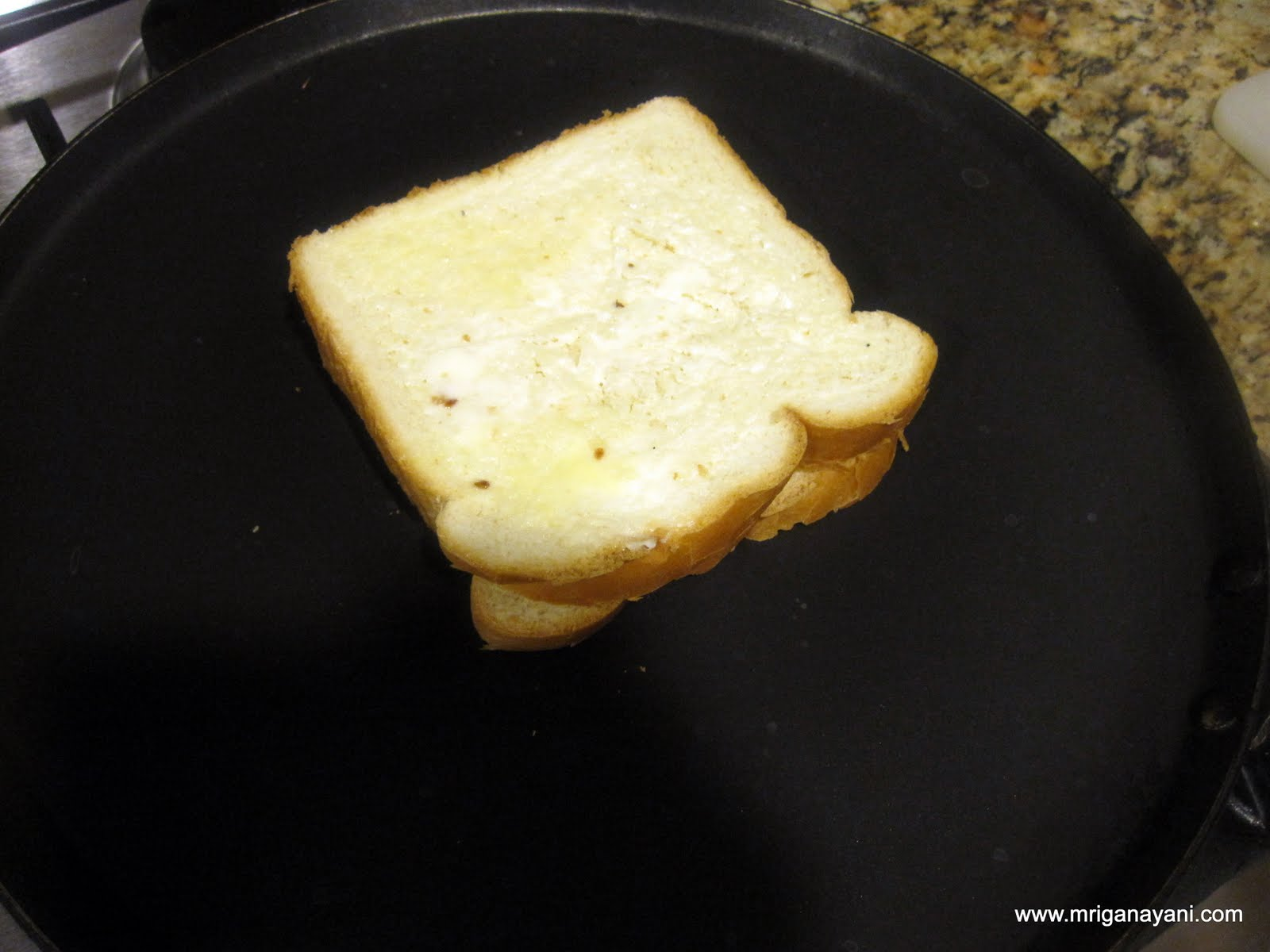 This is a grown up version of the grilled cheese sandwich. I used both ...