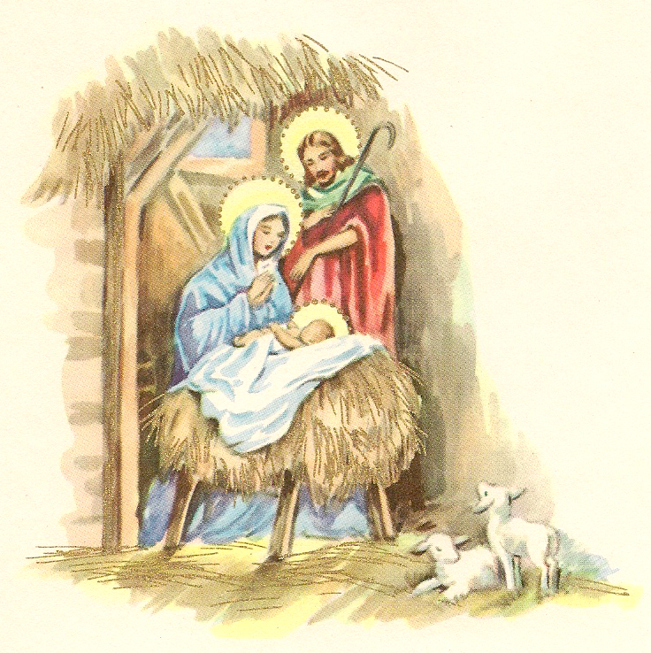 ... love the Nativity scenes. The image above was inside the card below