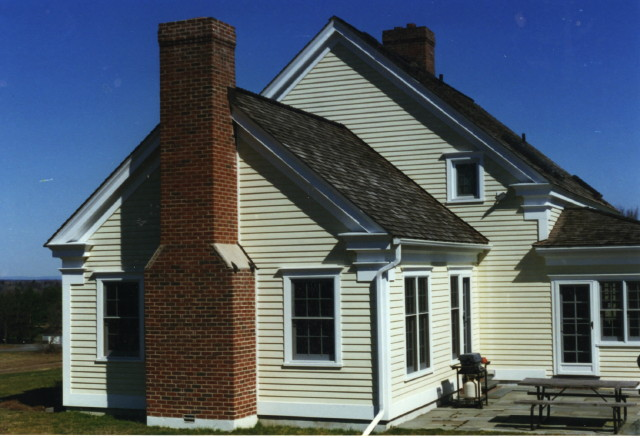 Two Chimneys for a Timberframe Colonial