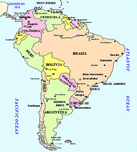 Mapa Mundi Chile