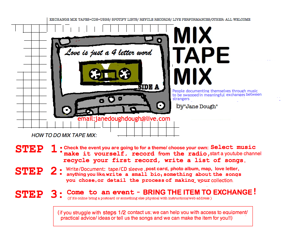 mix tape mix template for cassette sleeve