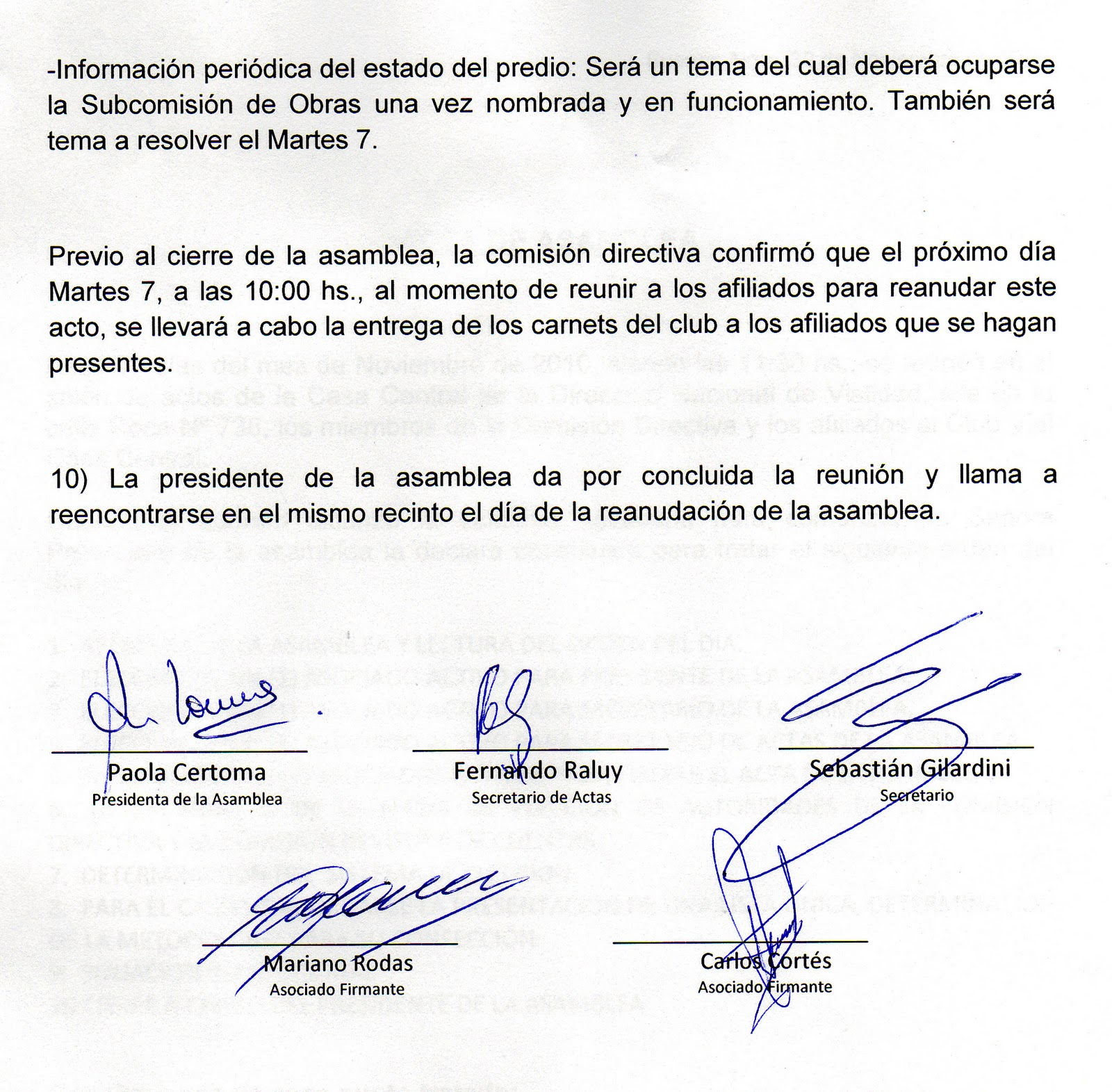 Club Vial Casa Central: Conclusiones post asamblea (esperando la ...