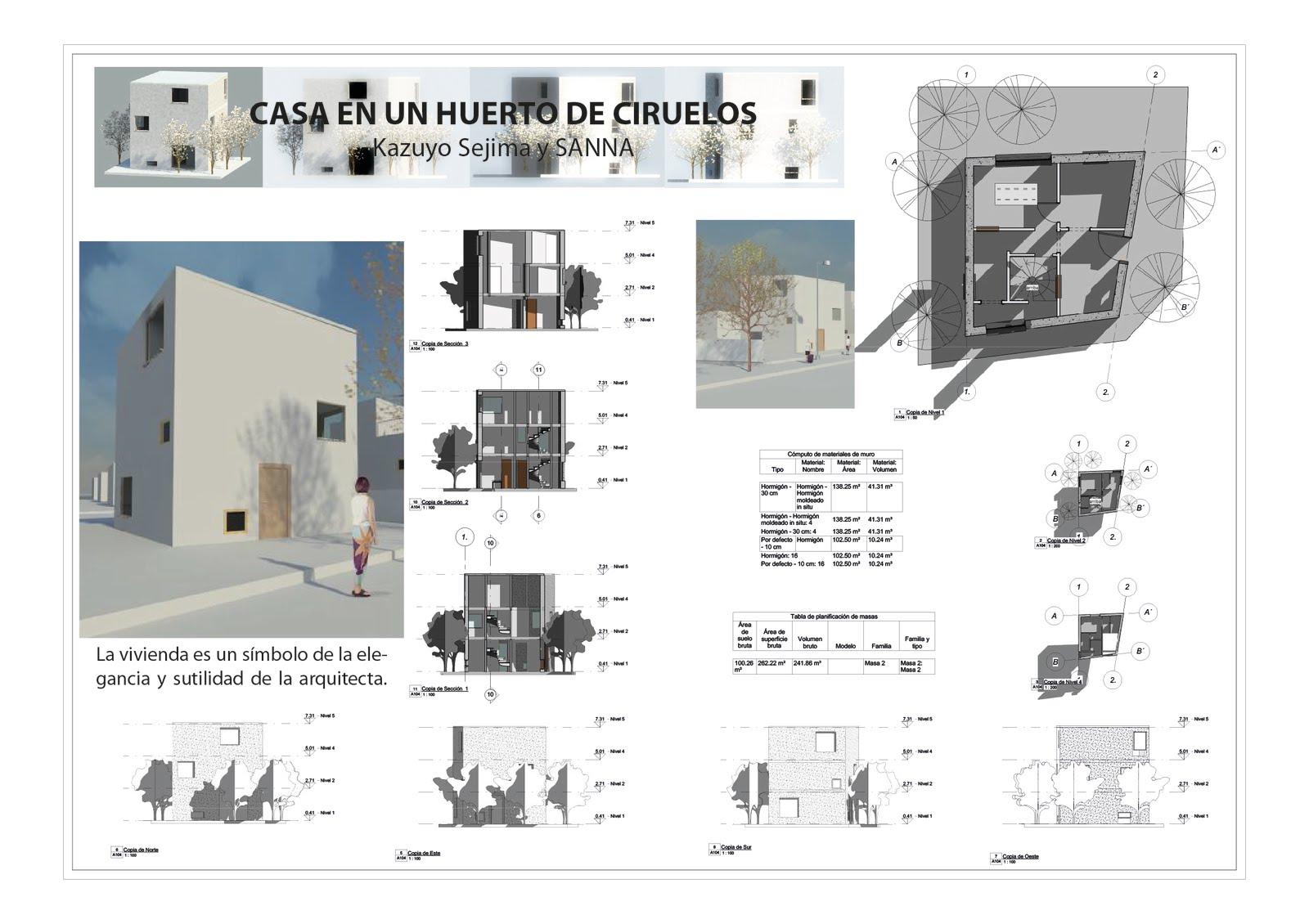 Casa en un huerto de ciruelos l mina de la casa en un for Casa vivienda jardin pdf