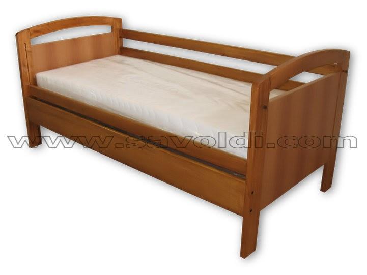 In marzo e aprile il letto con sponde scorrevoli completo di materasso anallergico guanciale - Letto completo di rete e materasso ...