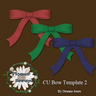 Bow Template 1 - By: Flower Scraps Bow2+preview