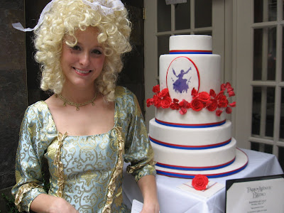 April Reeds Bastille Day Wedding cake April Reed made us the perfect