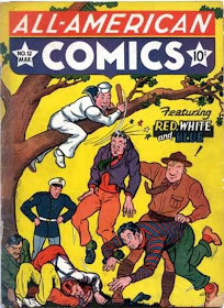 White /& Blue #3 independent comic book Red