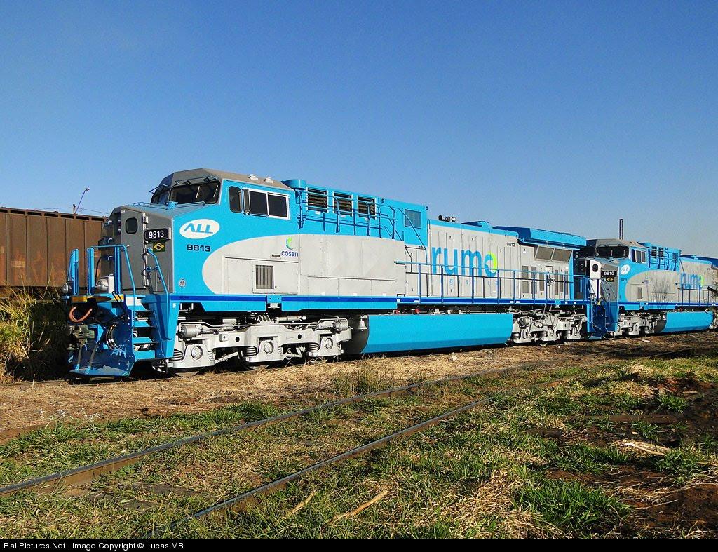 Fases de pintura de locomotivas Rumo+Logistica