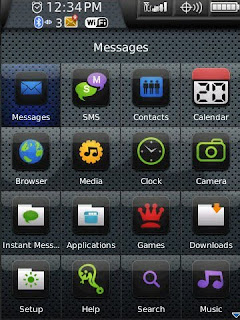 black 8 e mobile black leather theme