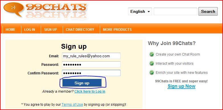 Website Chat Room Widget