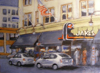 Free painting - Jakes famous crawfish house