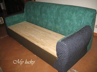 My lucky come ti ri fodero il divano - Foderare il divano ...