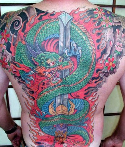 dragon japanese tattoo