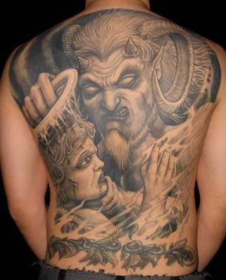 Devil demon Angel Tattoo