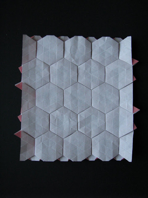 Eric Gjerde RedcDouble Pleat Hexagon Tessellation reverse side