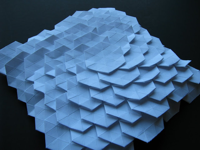 Eric Gjerde White Spread Hexagon Tessellation close up