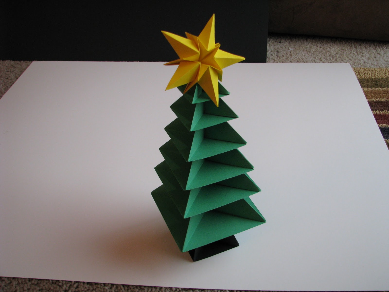 origami Christmas Tree design.