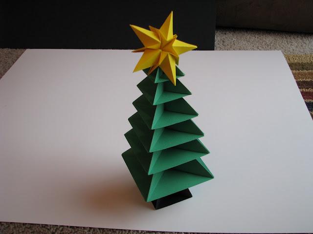 Lets make origami origami christmas tree tutorial