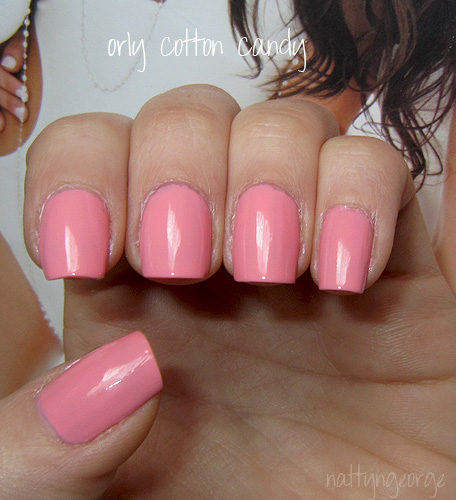 Cotton Candy Satin Fingernail Polish: NOTD: Orly Cotton Candy