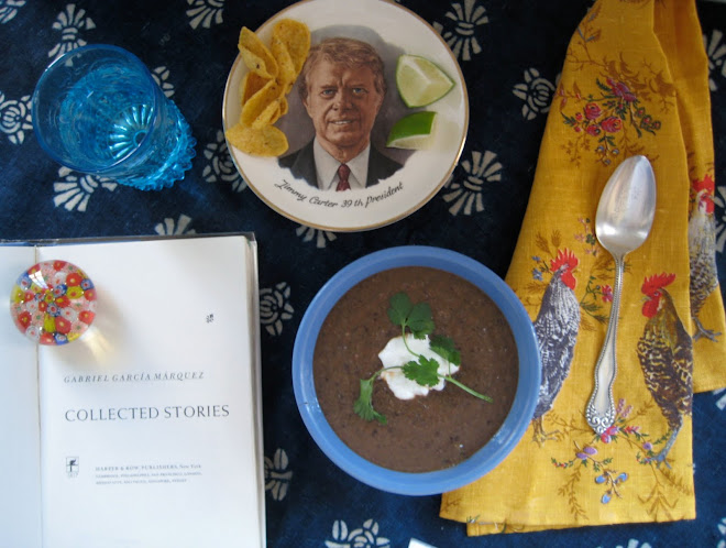 Black Bean Soup and Corn Chips with Jimmy Carter and Gabriel García Márquez