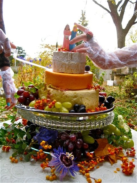 Wisconsin Cheese Wedding Cake (see our facebook page)