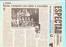 RUSIA - PRIMER CAMPEON DEL MUNDIALITO DE BABY FUTBOL