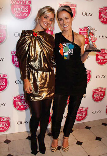 Caryn Franklin in my dress SS10