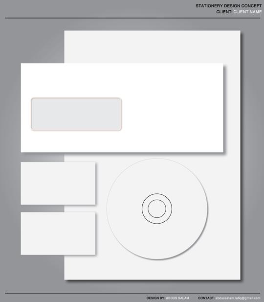 free stationery set design template printriver