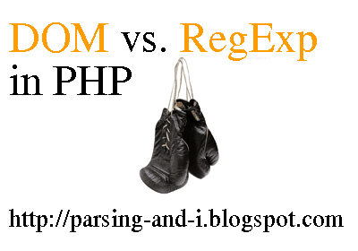 dom regexp on php