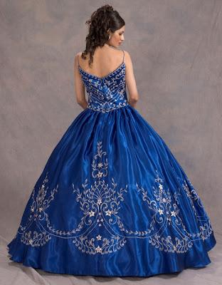 Vestido de 15 años - Color azul/plata
