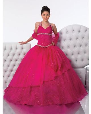 Vestido de 15 Años - Color Fucsia