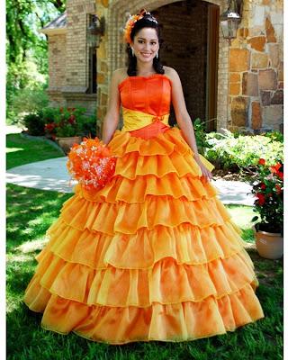 Vestido de 15 años - Color Naranja