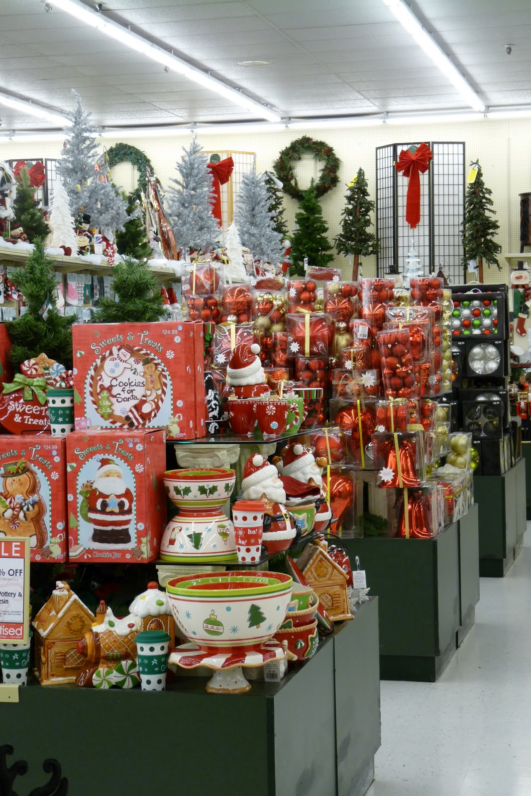there is a fabulous christmas sectionnow i dont know if it is here year roundbut i just couldnt get enough of it - Hobby Lobby Christmas