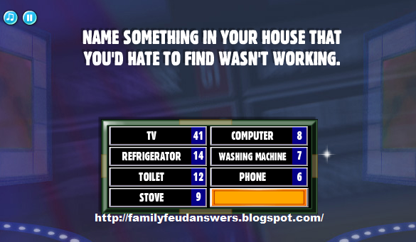 Name something in your house that you d hate to find wasn t working