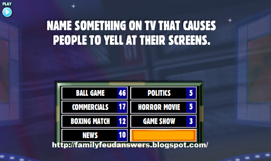 facebook family feud answers name something on tv that. Black Bedroom Furniture Sets. Home Design Ideas