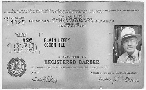 Barber License : barber+license.jpg