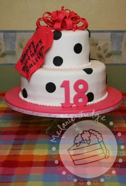 how to make a polka dot cake