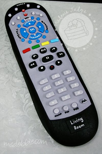 tv remote control cake grooms